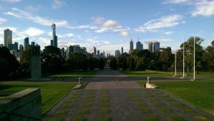 Der Blick von der Shrine of Remembrance