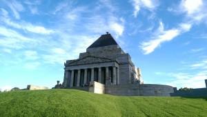 The Shrine of Remembrance - eines der größten Kriegsdenkmäler in Australien, welches ich von meinem Zimmer aus sehen kann.